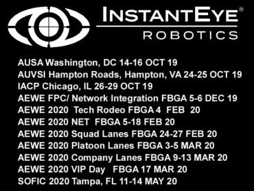 Upcoming InstantEye Robotics Events